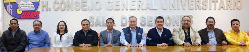 Autoridades de la UABCS y de su sindicato Administrativo