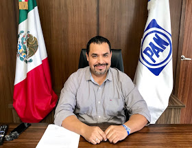 Javier Bustos, dirigente estatal del PAN en BCS