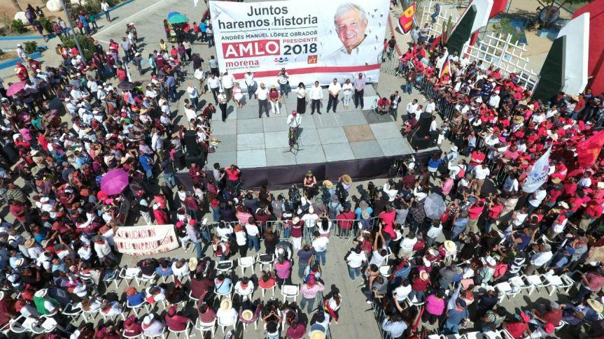 Mitin de López Obrador en Los Cabos, B.C.S.