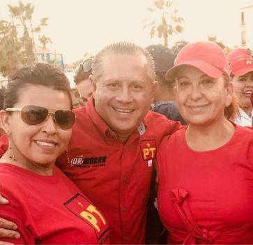 2 Las dos regidoras del PT y su candidato a la alcaldía Ernesto Ibarra