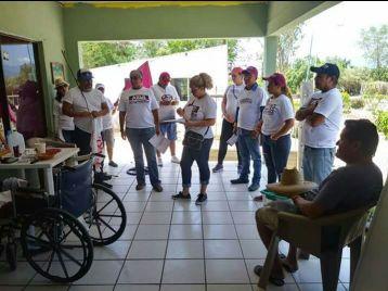 3 Morena en Miraflores, haciendo campaña