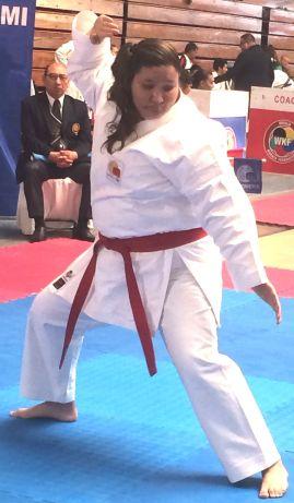 02 Aby Yannayoìn Lucero participando en Para-Karate